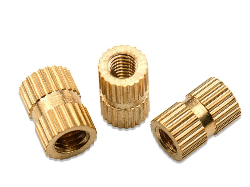 生产批发滚花铜嵌件m6