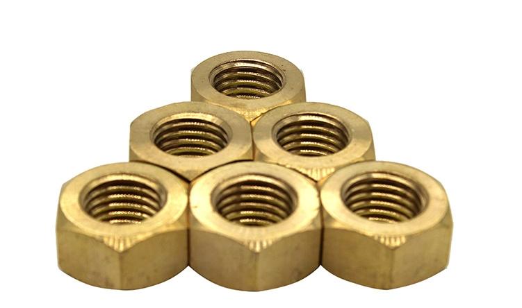 国标铜螺母m8 标准铜螺母